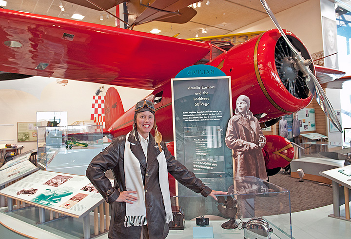 Mary Ann Jung of History Alive! as Amelia EarhartAmelia Earhart
